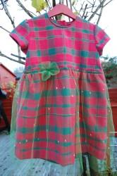 362 kjole ruter grønn
