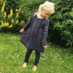 Kjole. Str.5-7 år. Myk bomull. Redesign av Odd Molly kjole. Finvask. Kode:426. Pris: kr. 250,-