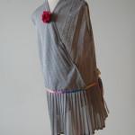 Kjole, 4-5 år. Kode: 401. Pris: 200,-. Redesign av can-can kjole fra 90-tallet. Viskose. Finvask