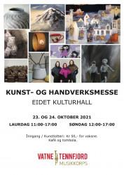 Kunst- og handverksmesse plakat 2021